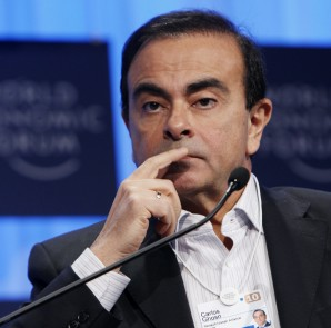 Chairman and CEO of Renault-Nissan Alliance Ghosn listens during a plenary session at the WEF in Davos